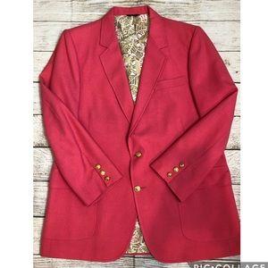 Vintage Lilly Pulitzer Mens Stuff Blazer Pink 44L